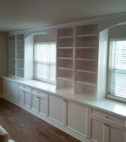 Custom shelves and storage in Home Office