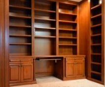 Home Office custom bookcases